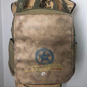 DIESEL CANVAS MESSENGER  BAG